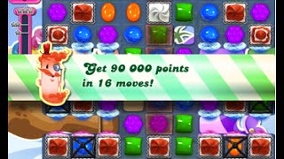Candy Crush Saga Level 1633 walkthrough (no boosters)