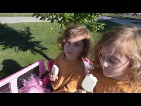 Ice Cream Shopping In Pink Cadillac Escalade Power Wheels!