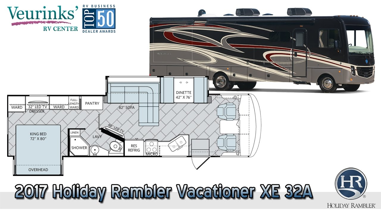 For Sale: 2017 Holiday Rambler Vacationer XE 32A Overview | Grand Rapids,  MI - (616) 965-9605