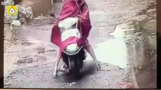 motorbisikletli kadin çocugu ezdi mp4