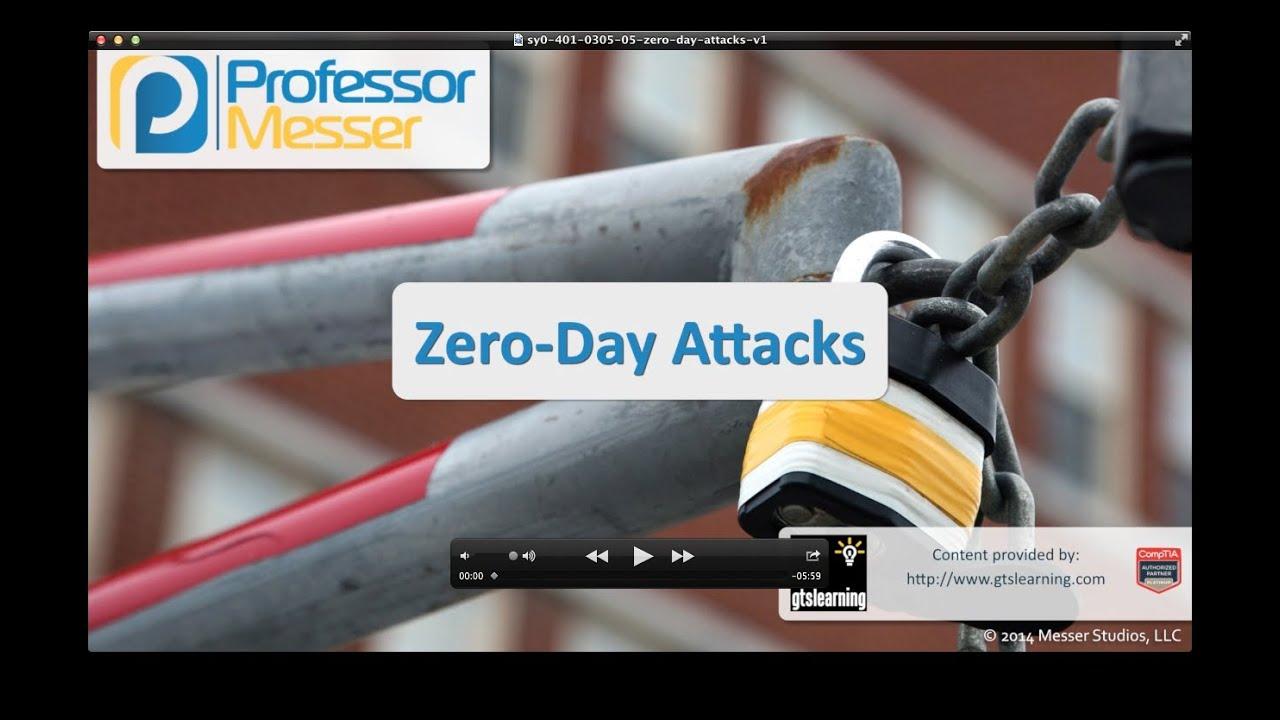 Zero-Day Attacks - CompTIA Security+ SY0-401: 3.5