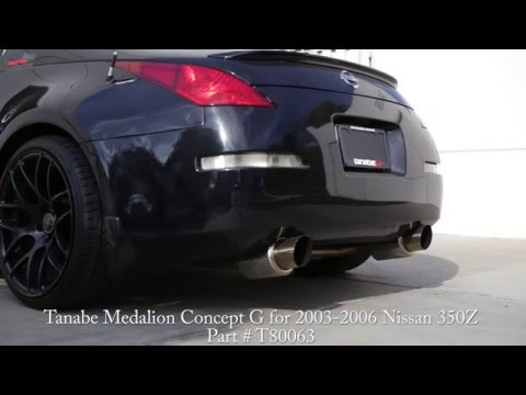 Tanabe Medalion Concept G Exhaust for 2003-2006 Nissan 350Z (Part #: T80063)
