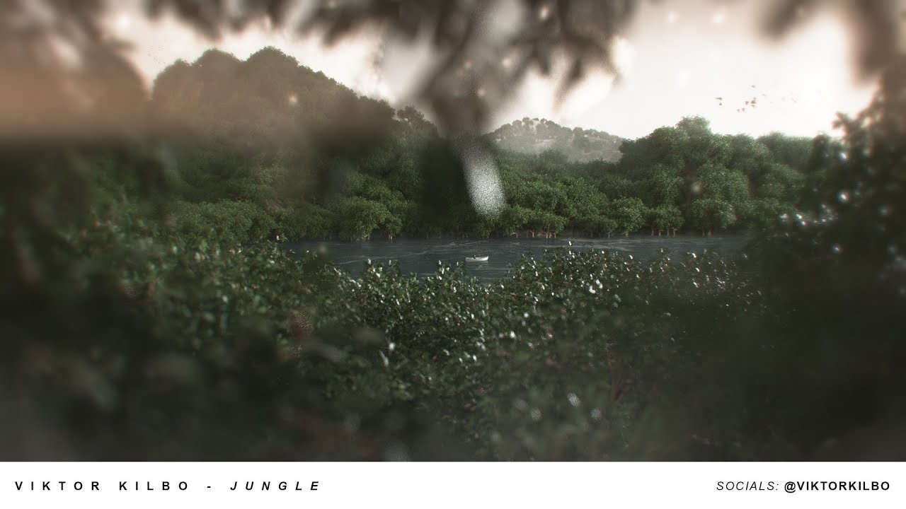 JUNGLE - Cinema 4D & World Machine Process Breakdown