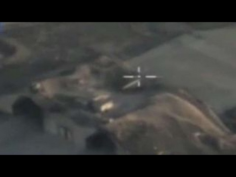 Footage from Russian drones after Syria attack
