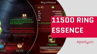 11.5K Ring Essence - Top Record of Rings Fluffy BR? - Legacy Of Discord - Apollyon