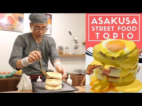 Tokyo Street Food Asakusa Top 10 Hidden Backstreet Tour | Fluffiest Japanese Pancakes Ever!
