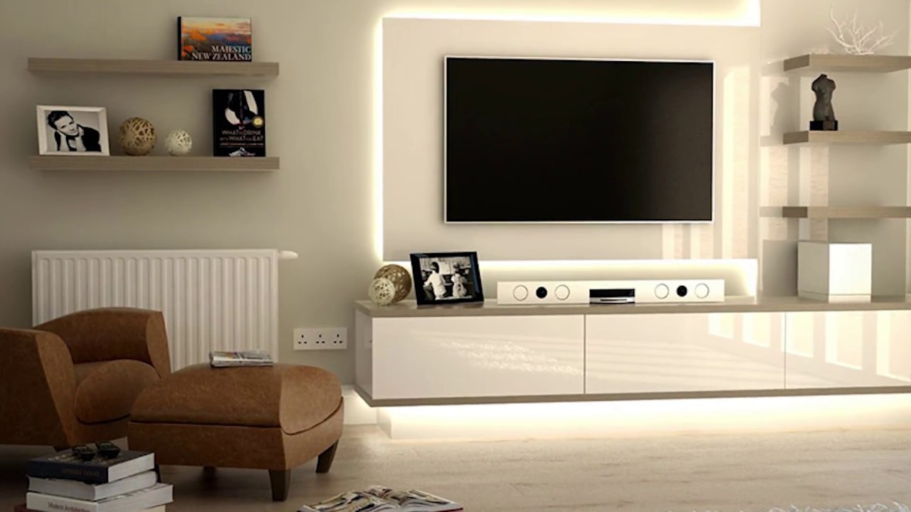Stylish wall mount tv stand ideas 2018 tv unit design ideas| concept ...
