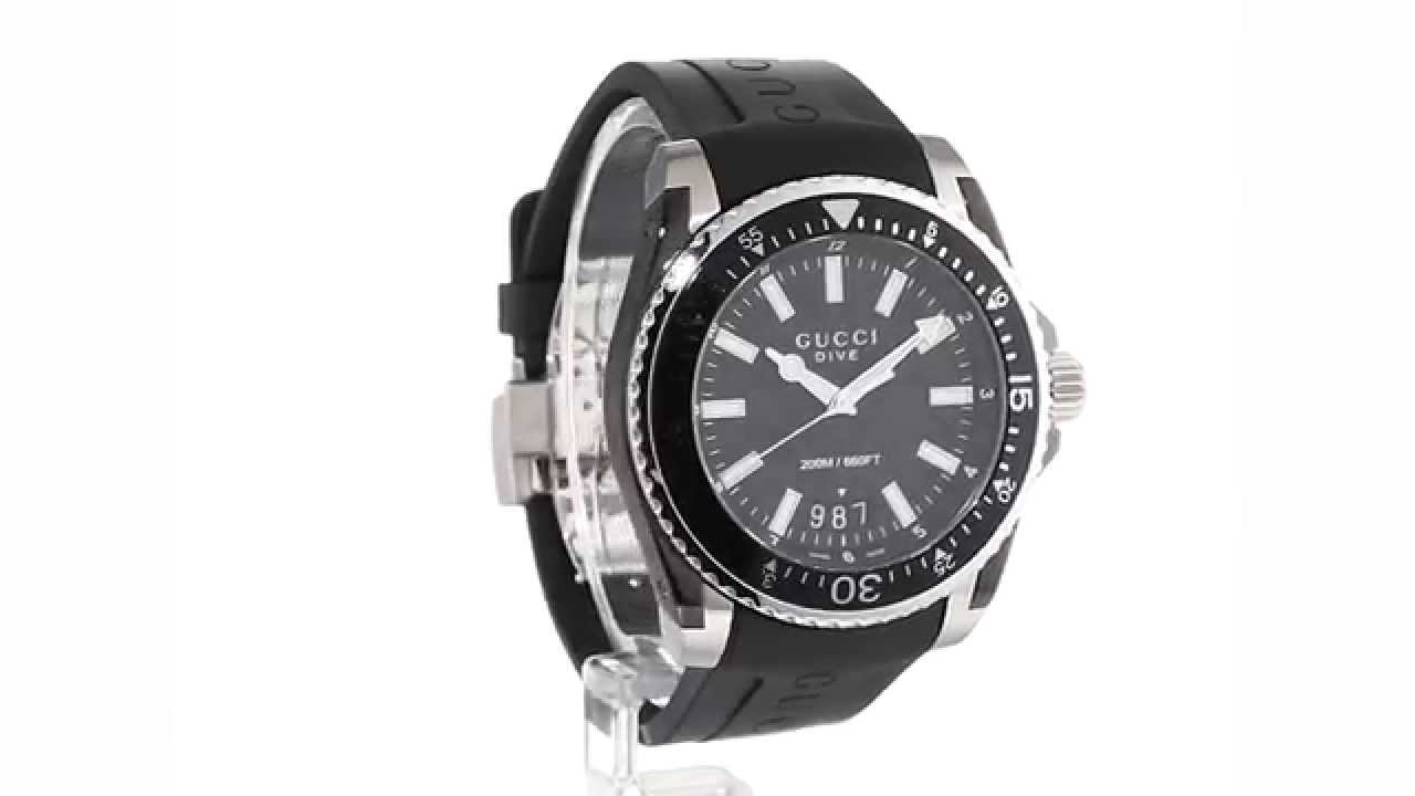 2fbb451f9f9 Gucci - Dive 45mm SKU 8615850 - YouTube