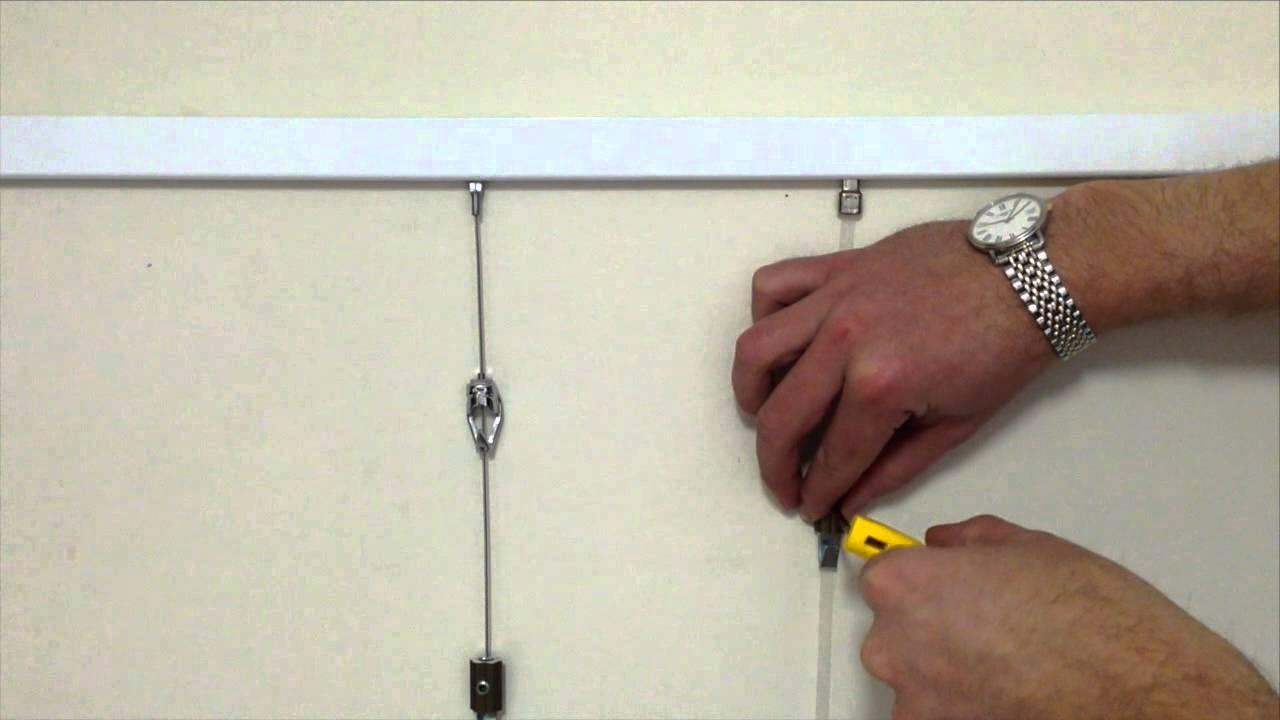 slimline art hanging system shakespeare solutions youtube. Black Bedroom Furniture Sets. Home Design Ideas