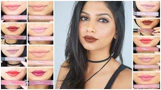 Huda Beauty Liquid Lipstick (Mini) Review & Swatches on Medium Skin