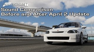 Forza Motorsport 7 - 1997 Honda Civic Type R Sound Comparison - Before and After April 2 Update