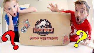 Father & Son TOY BOX DINOSAUR SURPRISE! / Jurassic World