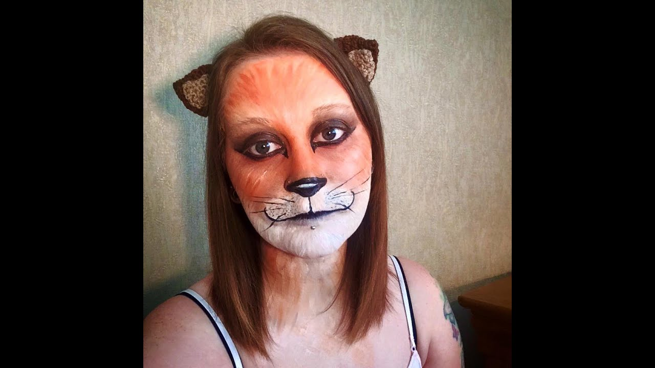 Fox face painting tutorial youtube solutioingenieria Gallery
