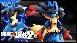 MEGA-EVOLUTION! LUCARIO GAMEPLAY - Dragon Ball Xenoverse 2 MOD 60 FPS!