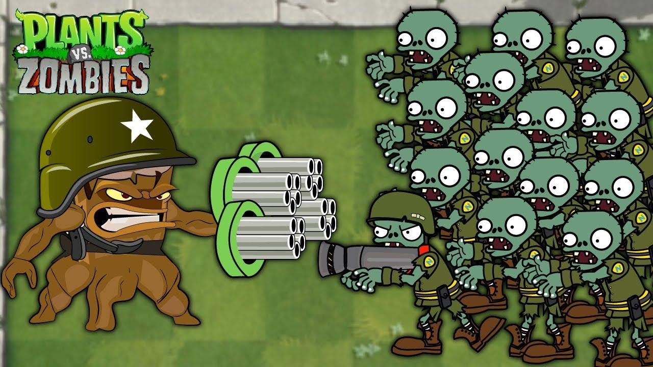Plants vs Zombies - 1 Threepeater vs 9999 Zombies Heroes vs Dr. Zomboss