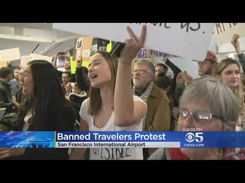 Hundreds Protest Muslim Travel Ban At SFO, JFK, Airports Across US