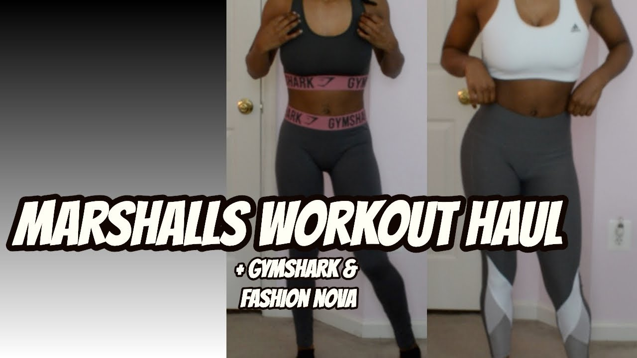 dfc0da1e3acc2 HUGE MARSHALLS WORKOUT (TRY ON) CLOTHING HAUL | + Gym Shark & Fashion Nova  Haul!