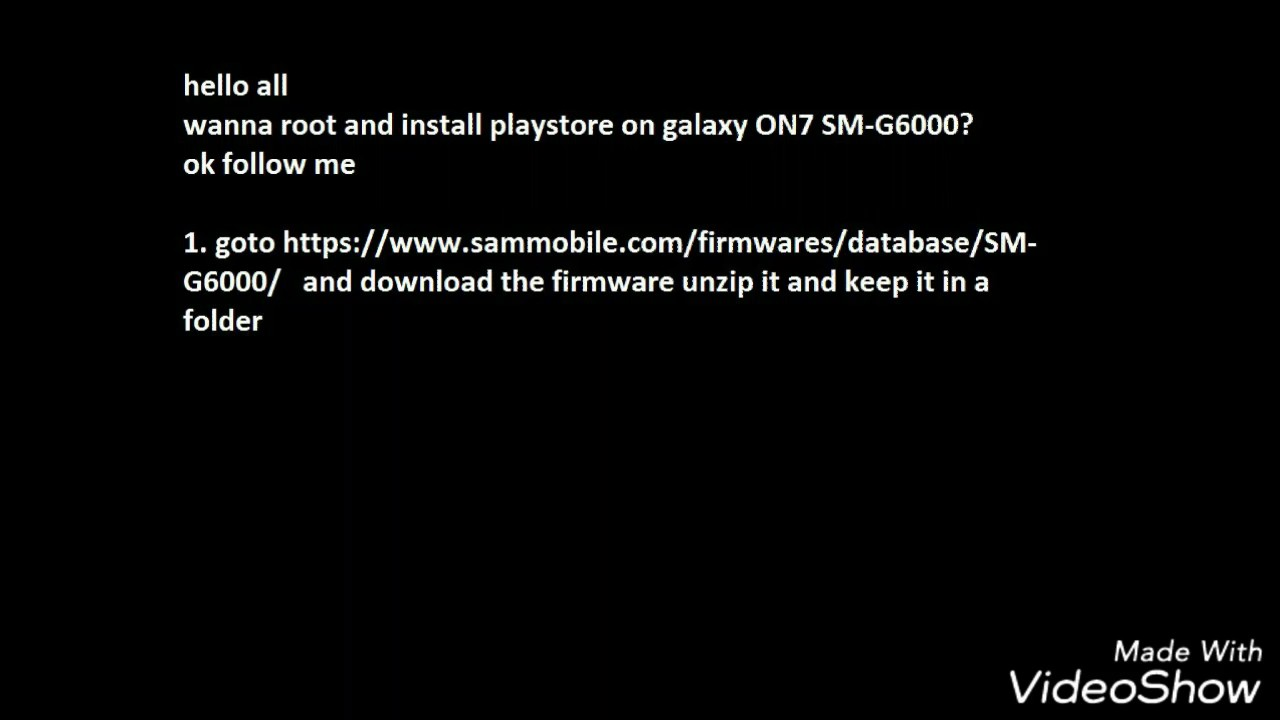 How to Root and Install PlayStore in Samsung ON7 - SM-G6000