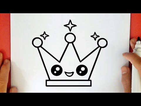 HOW TO DRAW A CUTE CROWN