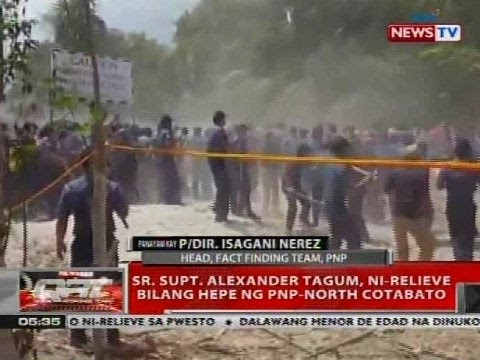 Sr. Supt. Alexander Tagum, ni-relieve bilang hepe ng PNP-North Cotabato