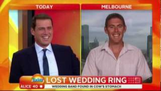 Karl Stefanovic Loses It Over Farmer's Rude Joke 'Lost Wedding Ring'