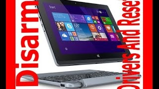 Acer One S1002  Aspire Switch 10 SW5-011 DISARMED COMPLETE RESET DRIVERS INSTALL USB RECOVERY