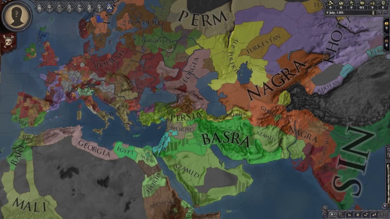 CK2 To EU4 Timelapse 769-1821 with Shattered World Mod