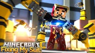 Minecraft Adventure - IRONMAN REBUILDS HIS SUIT!!