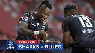 HIGHLIGHTS: 2019 Super Rugby Round 2 Sharks v Blues