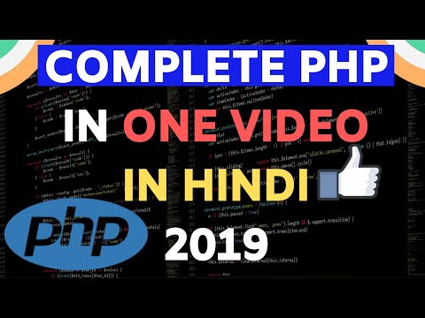 PHP TUTORIAL IN ONE VIDEO IN HINDI 2018