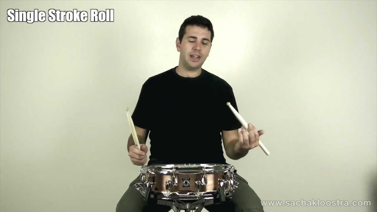 Single Stroke Roll Drum Rudiment On Snare & Drum Kit