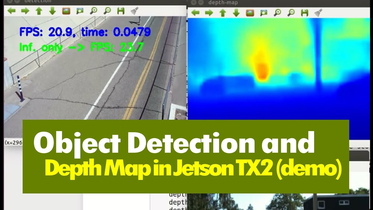 08 Running Object Detection and Depth Map Together in Jetson TX2 - TensorRT  (Demo)