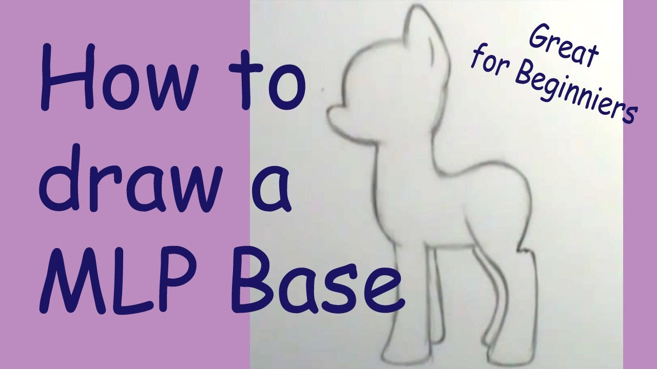how to draw a my little pony basic youtube