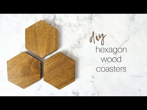 DIY Hexagon Coasters | How To Wood Coasters