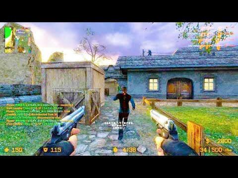 Counter Strike Source - Zombie Riot Mod Online Gameplay On Bretagne Map