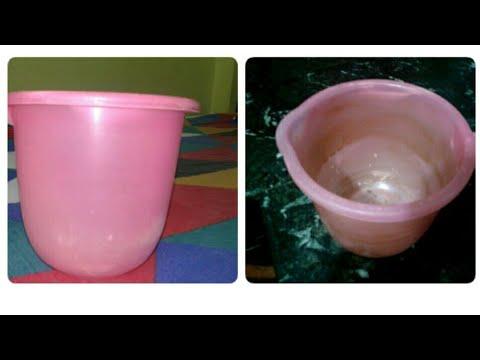 Bathroom Mug or Bucket Cleaning / Easy Technique for Cleaning Bucket /  Clean plastic Mug at Home