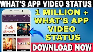 Unlimited Whats App Video Status || Bollywood Songs Whats App Video Status || Download Now