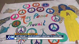 Cal State-San Marcos student paint murals to help heal after latest school shooting