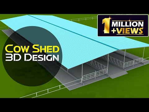 Cow Shed Design 3D | Cattle Farm 3D Animation Design | Discover Agriculture