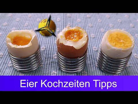 Eier Kochzeit: Eier weich, hart oder wachsweich kochen