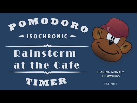 BOOST PRODUCTIVITY: ISOCHRONIC POMODORO TIMER - RAINSTORM AT THE CAFE