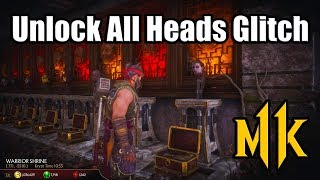 MORTAL KOMBAT 11 Crazy Glitch Unlocks All Heads in The Krypt | No Farming Required (MK11)