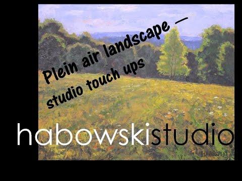 Plein air landscape - studio touch ups