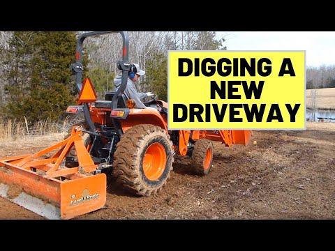 #20-digging-new-driveway-with-kubota-l3901-&-bb2560-box-blade
