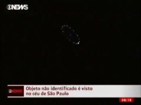 Impresionante OVNI Noticias Sao Paulo Brasil - UFO Sao Paulo Brasil news
