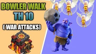 Clash of Clans: Mass Bowler Walk TH10 3* attack with low level heroes