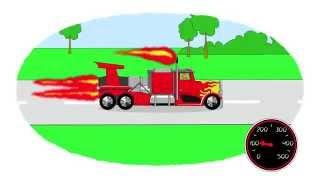 Zeichentrick-Malbuch - Die schnellsten Autos.