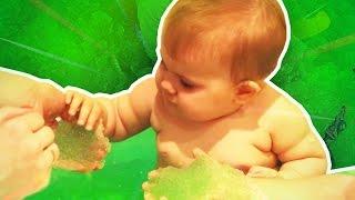Желе Бафф ♥ Малышка Сима ♥ Gross GELLI BAFF bath Challenge