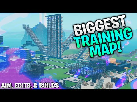 The BIGGEST Training Map! Aim, Edits, and Builds (Fortnite
