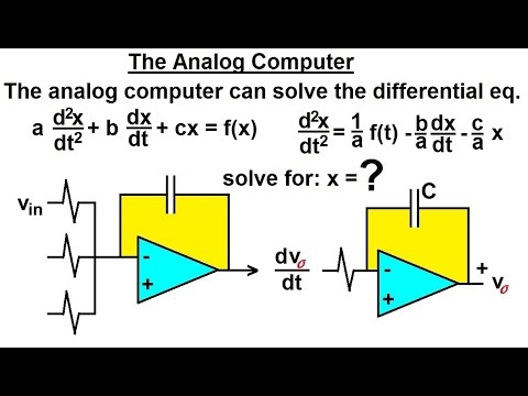 Electrical Engineering: Ch 6: Capacitors (25 of 26) The Analog Computer